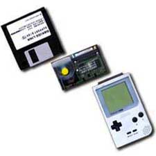 "Gameboy, GB KISS LINK modem & 3.5"" floppy with drivers / utilities"